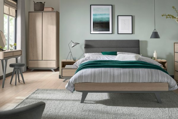 Brunel Scandi Oak & Dark Grey Bedroom