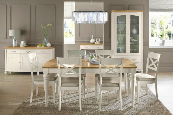 Montreux Pale Oak & Antique White Dining