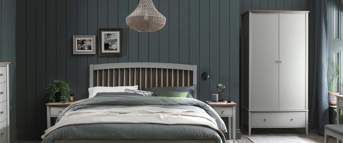 Whitby Scandi Oak & Grey Bedroom