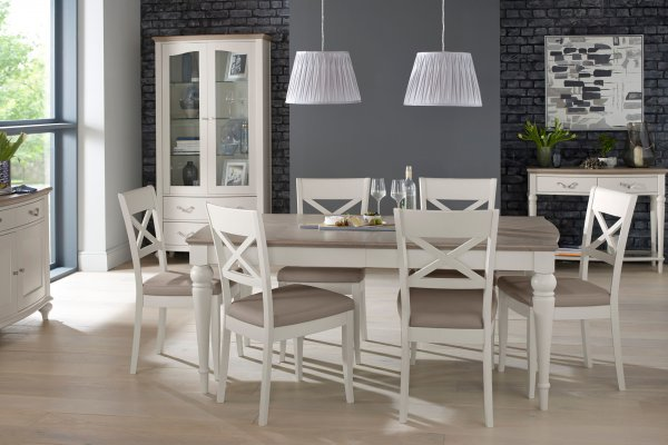 Montreux Grey Washed Oak & Soft Grey Dining