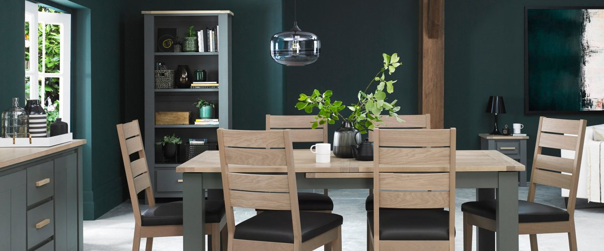Oakham Dark Grey & Scandi Oak Dining