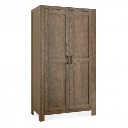 Turin Dark Oak Double Wardrobe