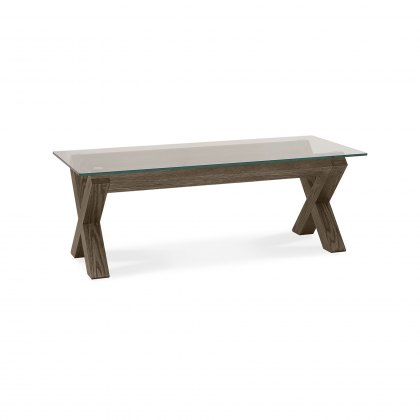 Turin Dark Oak Glass Coffee Table