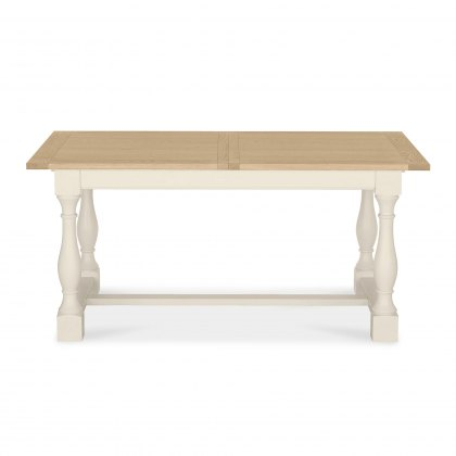 Chartreuse Aged Oak & Antique White 4-10 Extension Table