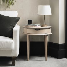Dansk Scandi Oak Lamp Table With Drawer