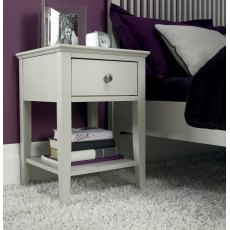 Ashby Soft Grey 1 Drawer Nightstand