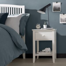 Ashby White 1 Drawer Nightstand