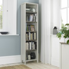 Bergen Grey Washed Oak & Soft Grey Narrow Bookcase