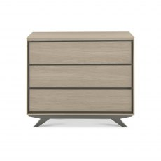 Brunel Scandi Oak & Dark Grey 3 Drawer Chest