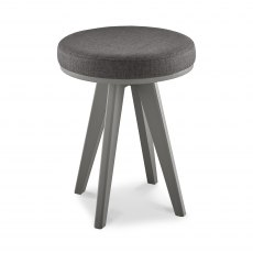 Brunel Scandi Oak & Dark Grey Stool Cold Steel