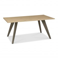 Cadell Aged Oak 6 Seater Dining Table