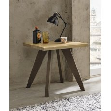 Cadell Aged Oak Lamp Table