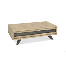 Cadell Aged Oak Coffee Table With Drawers