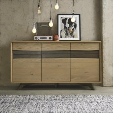 Cadell Aged Oak Wide Sideboard