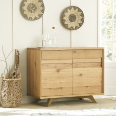 Cadell Rustic Oak Narrow Sideboard