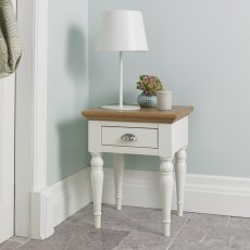 Hampstead Two Tone Lamp Table - Turned Leg