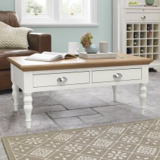 Hampstead Two Tone Coffee Table - Turned Leg