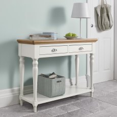 Hampstead Two Tone Console Table - Turned Leg