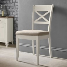 Montreux Soft Grey X Back Chair - Pebble Grey Fabric (Pair)