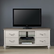 Montreux Grey Washed Oak & Soft Grey Entertainment Unit