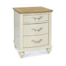 Montreux Pale Oak & Antique White 3 Drawer Nightstand