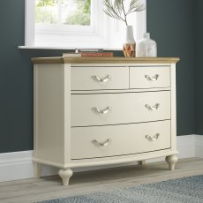 Montreux Pale Oak & Antique White 2+2 Drawer Chest
