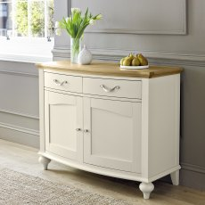 Montreux Pale Oak & Antique White Narrow Sideboard
