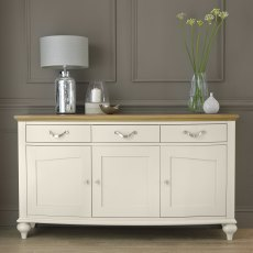 Montreux Pale Oak & Antique White Wide Sideboard