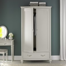Montreux Soft Grey Double Wardrobe