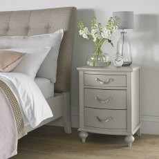 Montreux Urban Grey 3 Drawer Nightstand