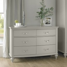 Montreux Urban Grey 6 Drawer Wide Chest