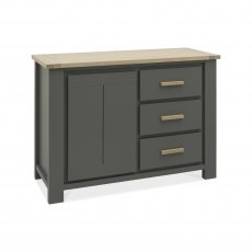 Oakham Dark Grey & Scandi Oak Narrow Sideboard