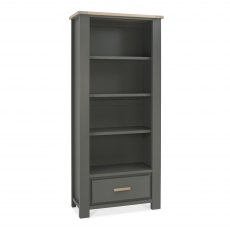 Oakham Dark Grey & Scandi Oak Bookcase