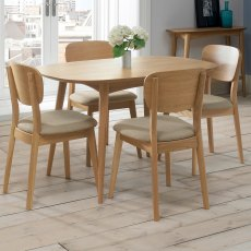 Oslo Oak 4 Seater Fixed Dining Table