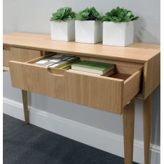 Oslo Oak Console Table With Drawer