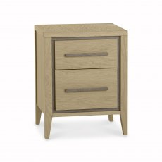 Rimini Aged Oak & Weathered Oak 2 Drawer Nightstand