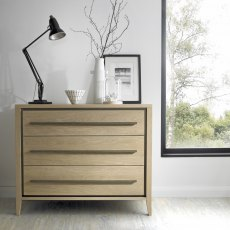 Rimini Aged Oak & Weathered Oak 3 Drawer Chest