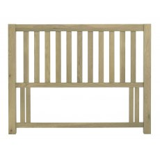 Turin Aged Oak Slatted Headboard King 150cm