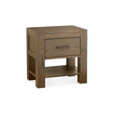 Turin Dark Oak 1 Drawer Nightstand