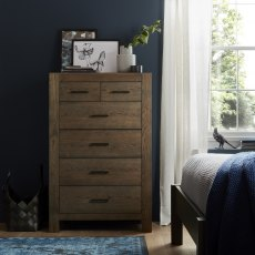 Turin Dark Oak 4+2 Drawer Chest