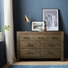 Turin Dark Oak 4+3 Drawer Chest
