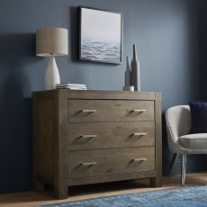 Turin Dark Oak 3 Drawer Wide Chest