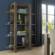 Turin Dark Oak Open Shelf Unit