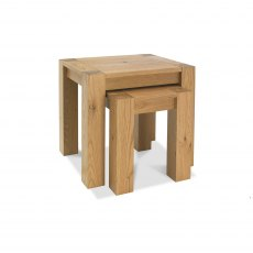 Turin Light Oak Nest Of Lamp Tables