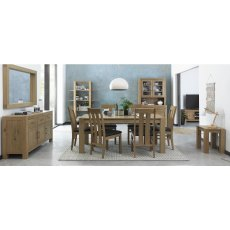 Turin Light Oak Landscape Mirror
