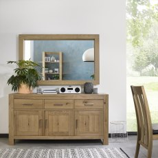Turin Light Oak Wide Sideboard