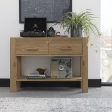 Turin Light Oak Console Unit