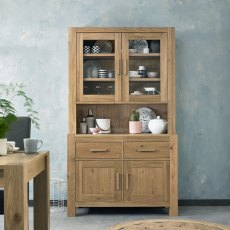 Turin Light Oak Display Unit