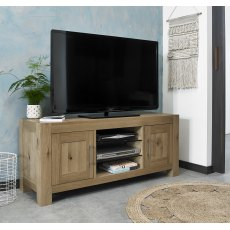 Turin Light Oak Entertainment Unit