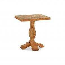 Belgrave Rustic Oak Lamp Table